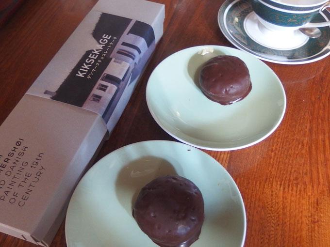 ハマンスホイとデンマーク絵画展のチョコレート菓子