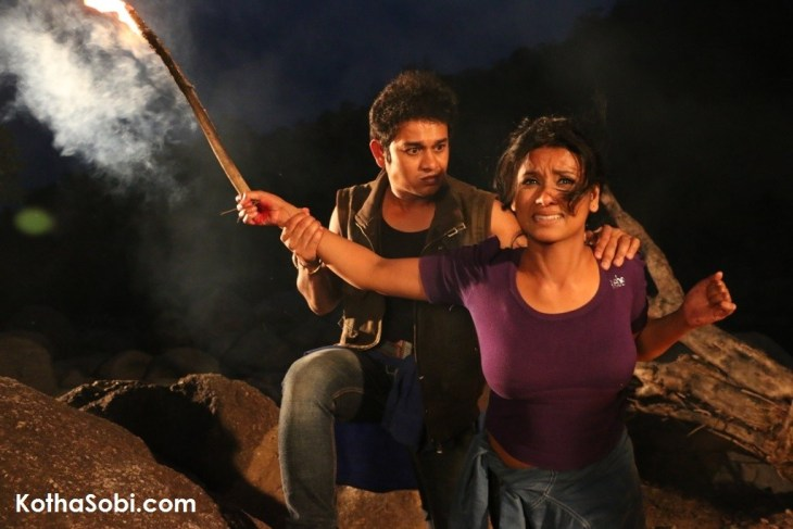Debashis Barthakur and Urmila Mahanta in a scene from the bilingual
