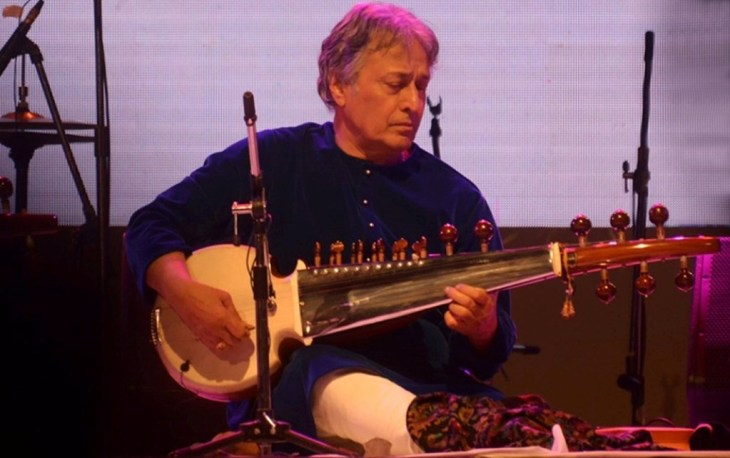 Amjad Ali Khan performing at the Rongali fest