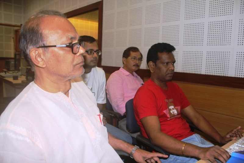 Director Dr. Sitanath Lahkar, Editor Dr. A Nagraj and others during editing of AEI MAATITE