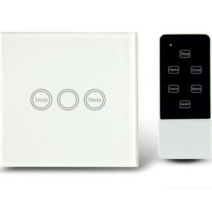Makegood - Dotykový vypínač s funkciou časovača s DO, sklenený panel, biely