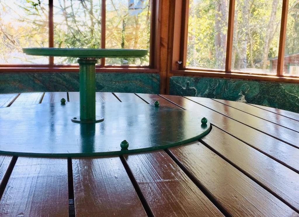 Huvimajan pöytä