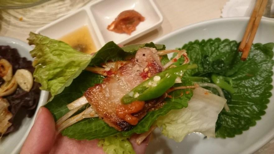 サムギョプサル食べ方