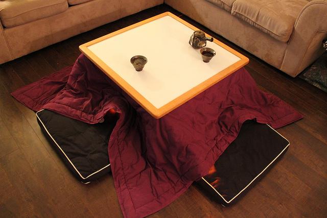 kotatsu mobilia típica do inverno do japão