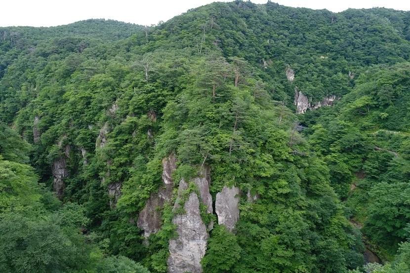 鳴子峡の7月の風景写真