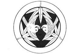竹に二羽飛び雀紋の写真