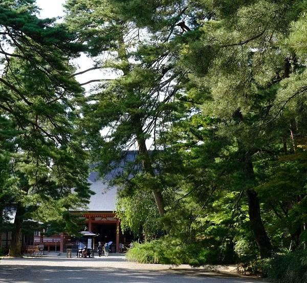 毛越寺の秋の写真