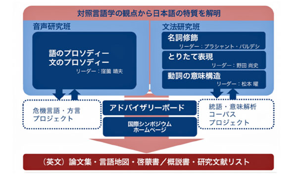 図1 対照言語学プロジェクトの構成と活動