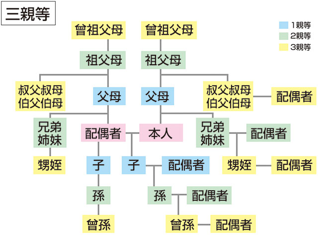 Images of 親等 - JapaneseClass.jp