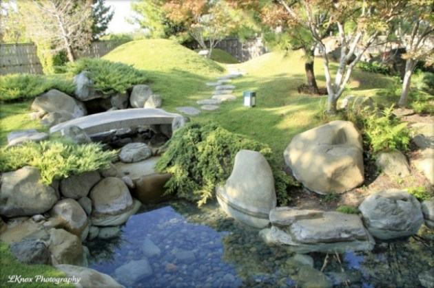 KotoJazz 18  Japanese Garden Bridges   KOTOJAZZ COM Japanese garden small koi pond stone bridge