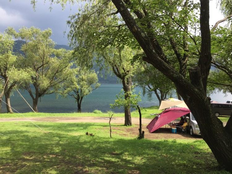 ソロキャンプツーリング 西湖