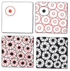 丸を組み合わせたゼンタングルのパターン