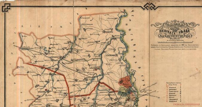Карта Гостомеля