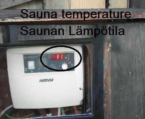 Saunan lämpötilaosoitin