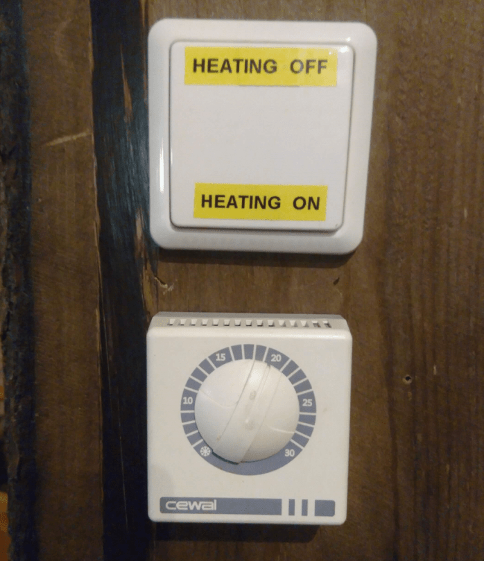 Lämmönsäätö, heating on/heating off