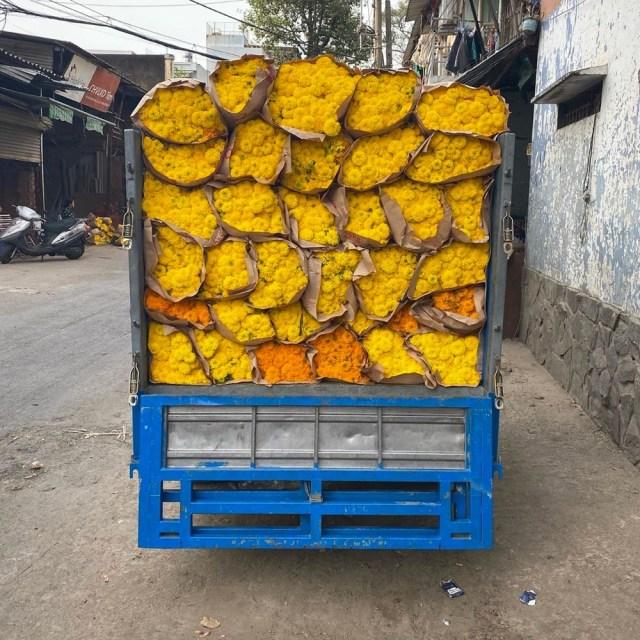 Small truck full of flowers, Saigon
