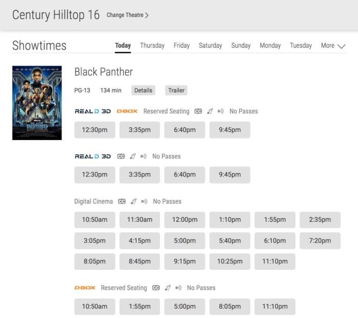 Black Panther Movie Times Coogler