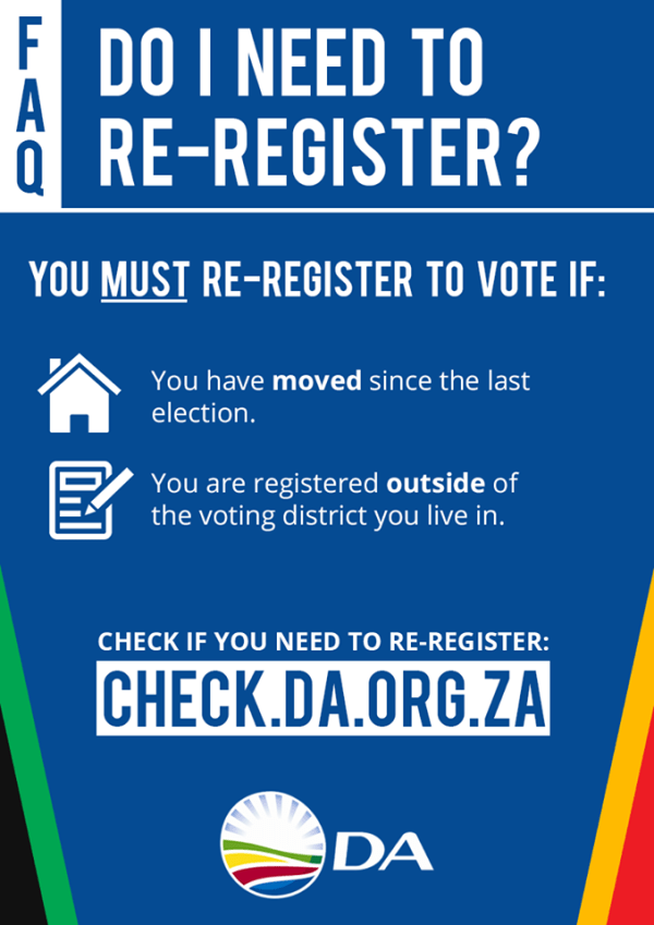 When must you re-register to vote | kougademocrat