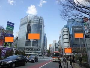 大型ビジョン 渋谷4面