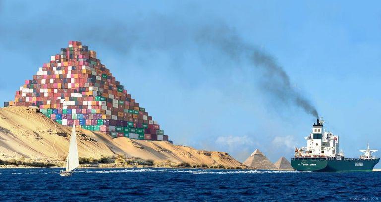 The Suez Canal Blockage, an Alarm Signal?