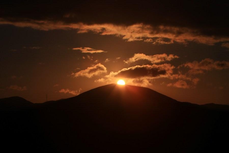 矢大臣山の夕景