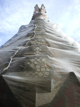 As if in a cocoon, ready to emerge. Top of one of the 8 towers built to date.