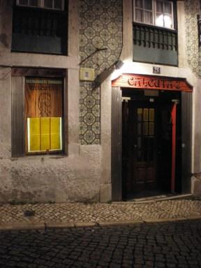 Traditional facade at Bairro Alto.