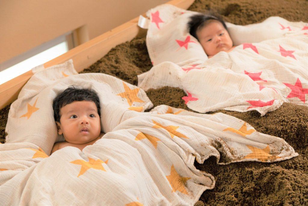 ひのき100%の酵素風呂は赤ちゃんにも安心