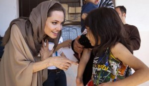 UNHCR Special Envoy Angelina Jolie meets with Syrian Refugees in Lebanon
