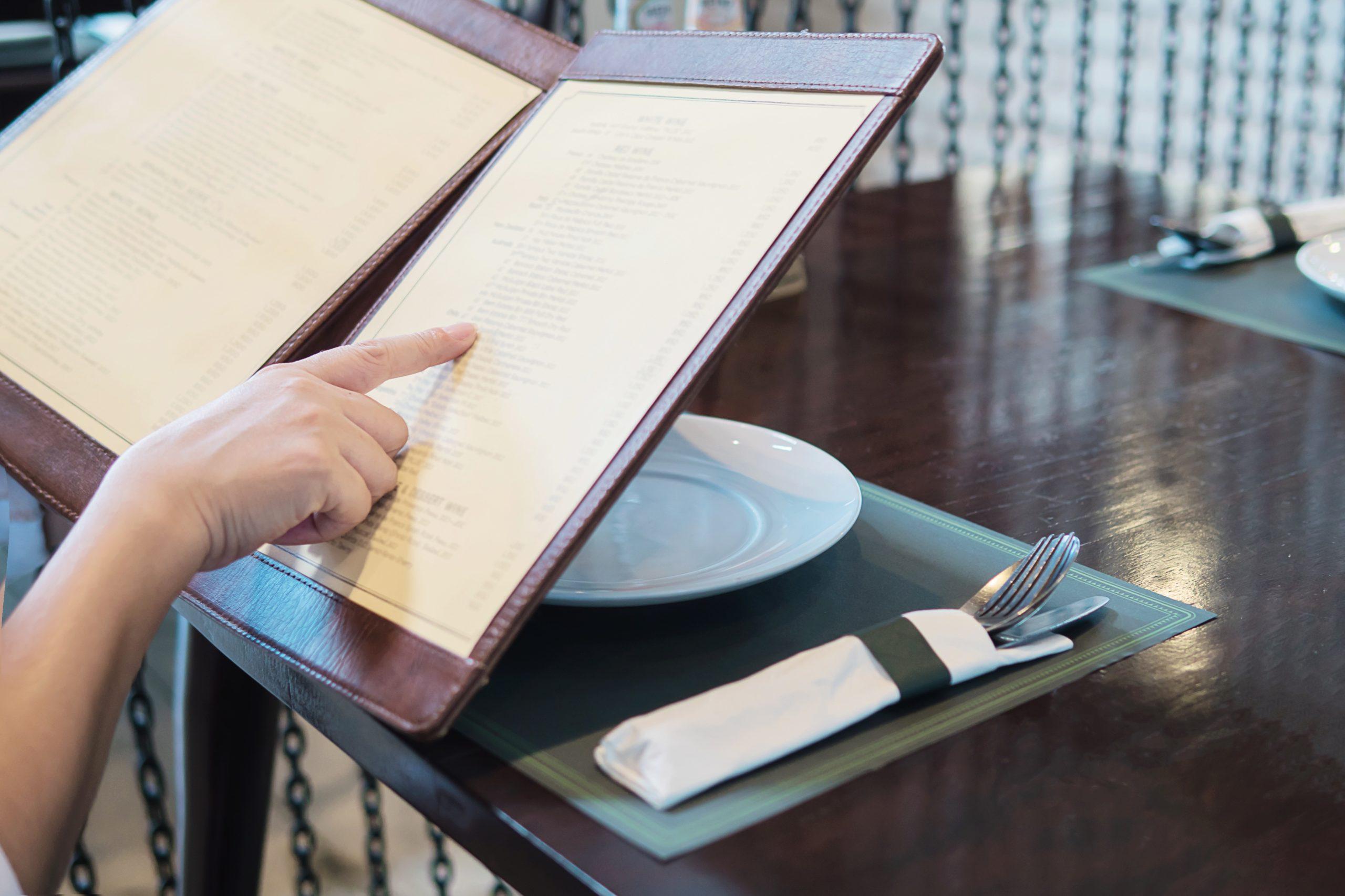 How do I renew my restaurant's menu?