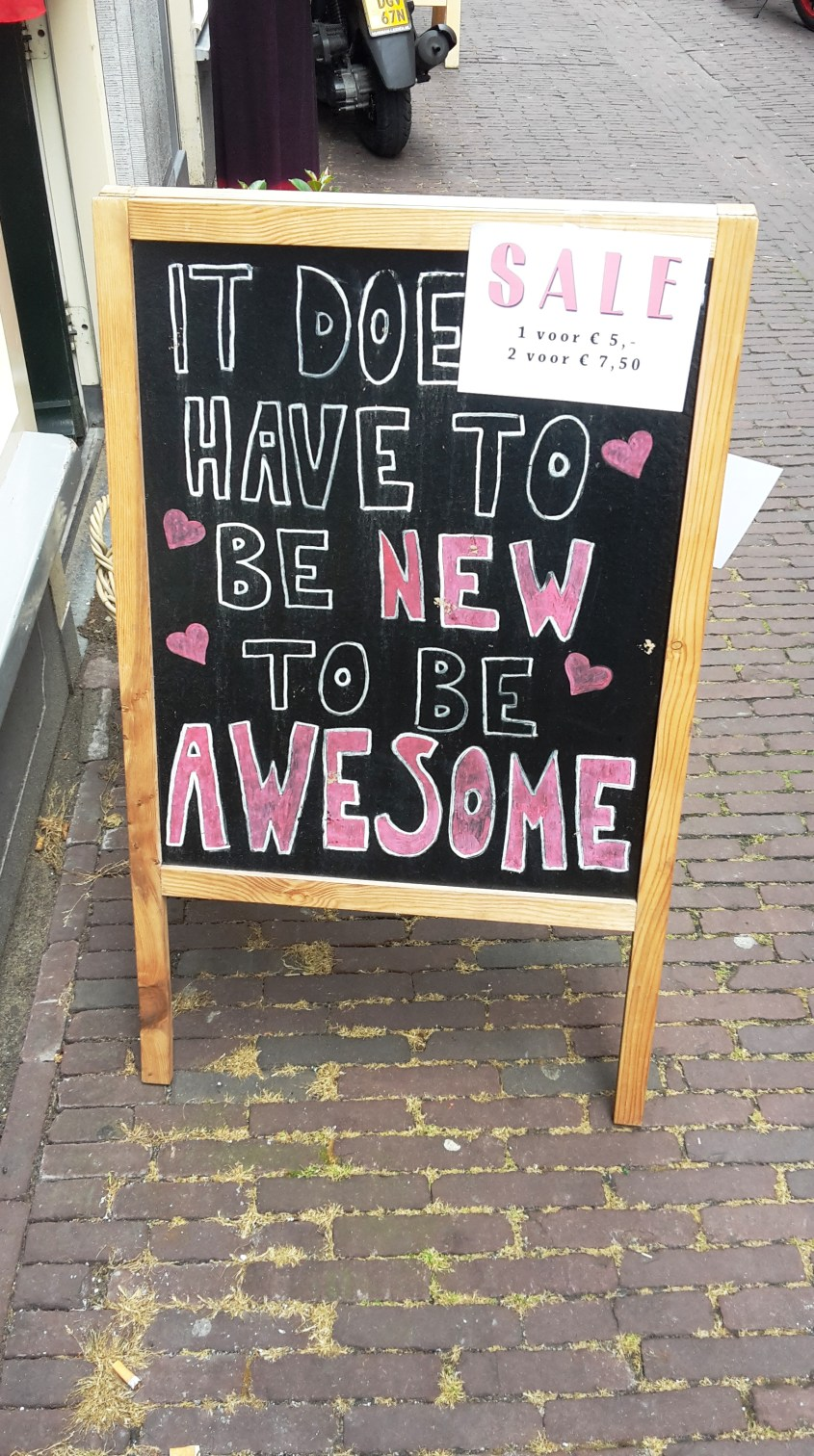 Tweedehans_It doesn;t have to be new to be awesome_Flamingo Leiden