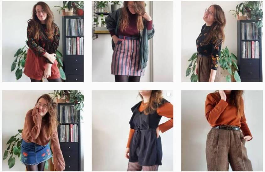 Vijf nieuwe kledingcombinaties met alleen tweedehands items