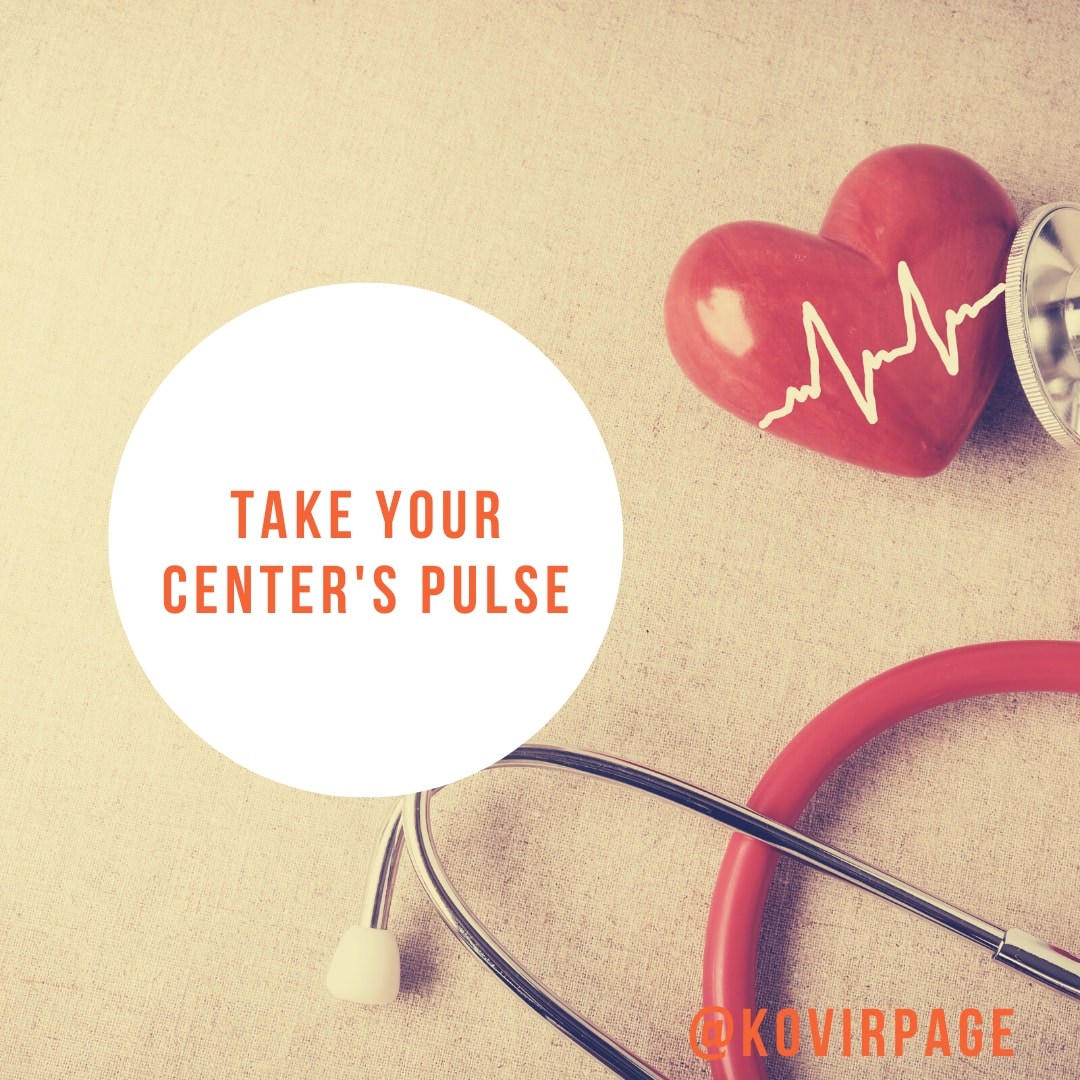 take your center's pulse by cover page