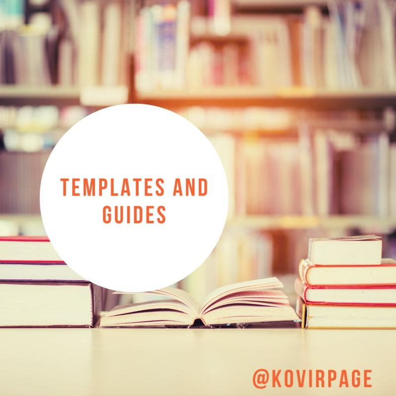 templates and guides by cover page