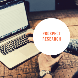 prospect research by cover page