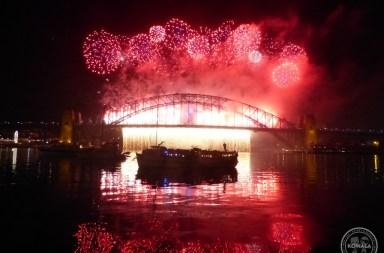 Feu artifice nouvel an Sydney australie kowala