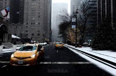 visite de New York en hiver et en 5 jours : taxi jaune