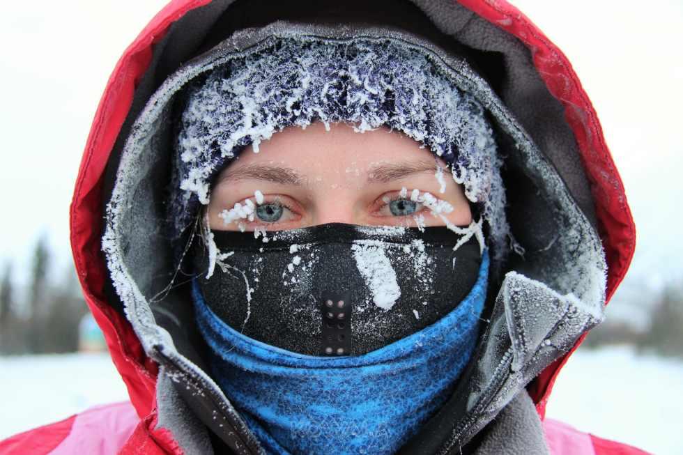 selfie dans le grand froid du Yukon