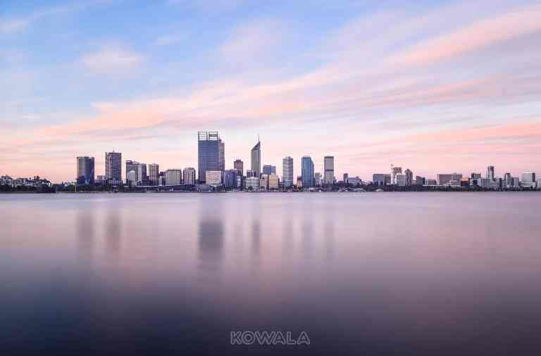 Perth swan river coucher de soleil sunset western australia australie occidentale