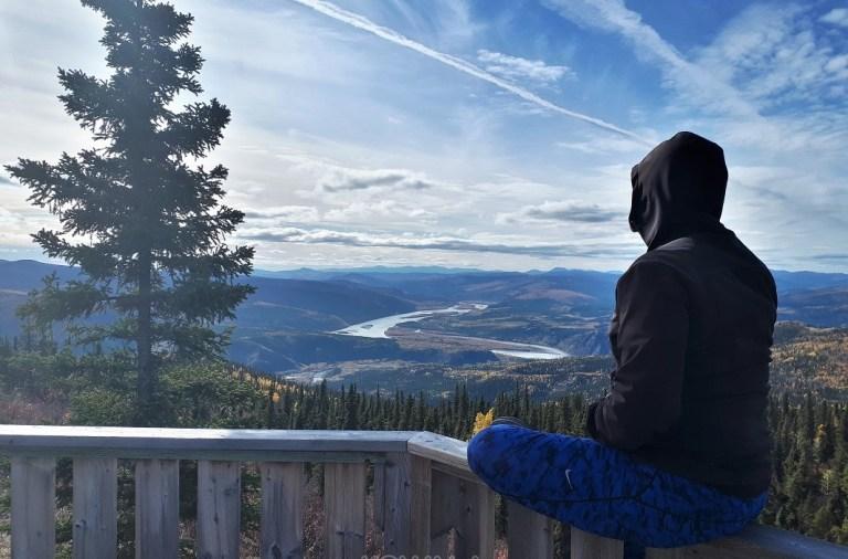 Vue panoramique sur la ville de Dawson, Yukon, Canada
