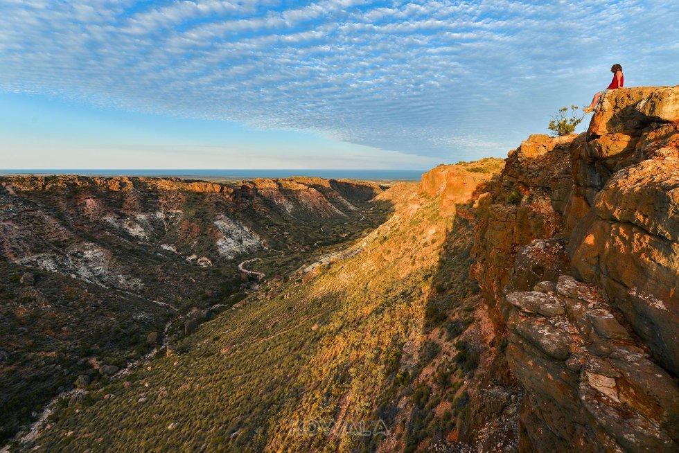 Australie Backpacker PVT Road Trip Charles-Knife-Gorge-Cape-Range-National-Park-WA sunset