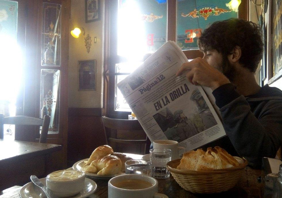 Petit déjeuner à El Federal, San Telmo, Buenos Aires