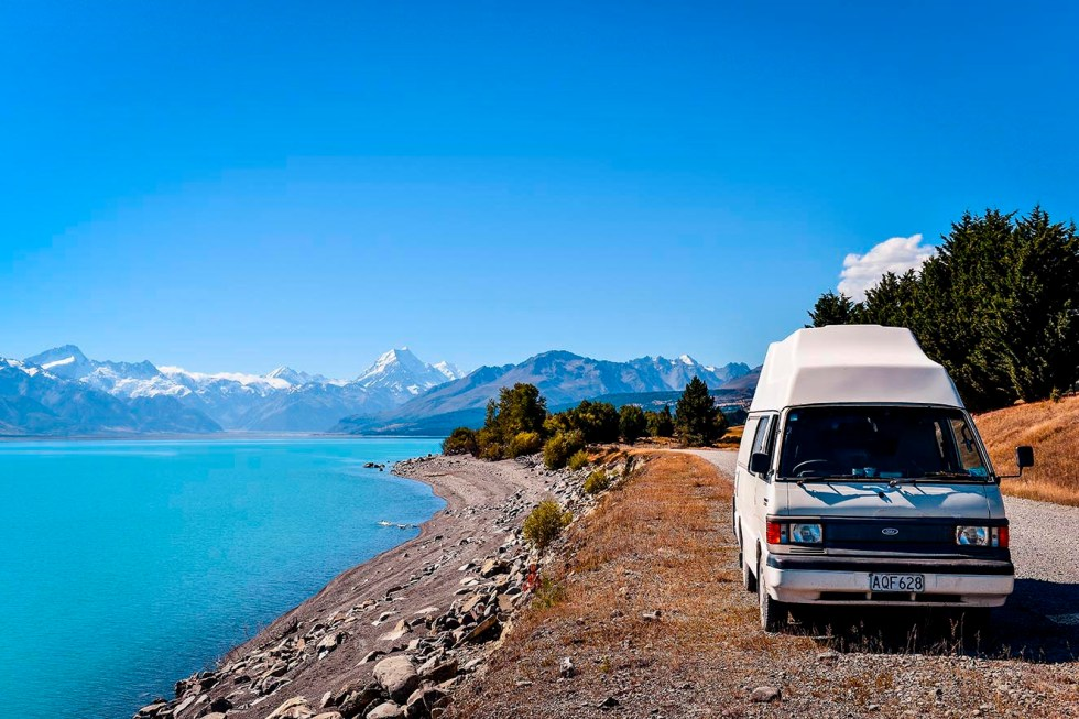 lake lac pukaki mount cook mont summer PVT Australie Nouvelle Zélande backpacker road trip travel voyage photography Australia New Zealand