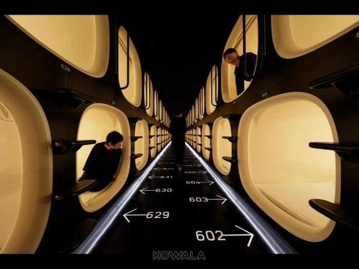 capsule hotel a Tokyo