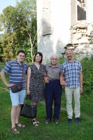 Left to right: Anatoliy, Lena, Mykhaylo and me.