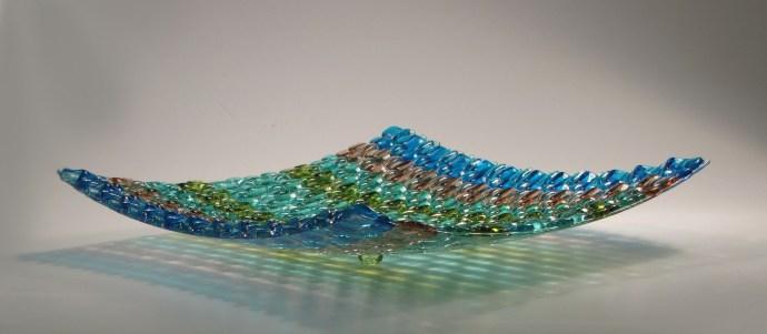 Woven Fused Glass Platter
