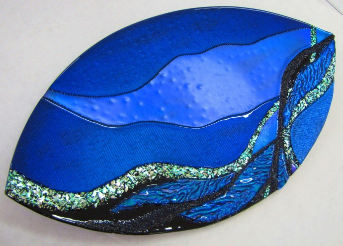 Fused Dichroic Glass Platter