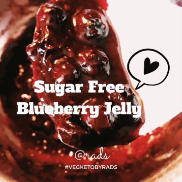 Sugar Free Blueberry jelly - #VegKetoByRads