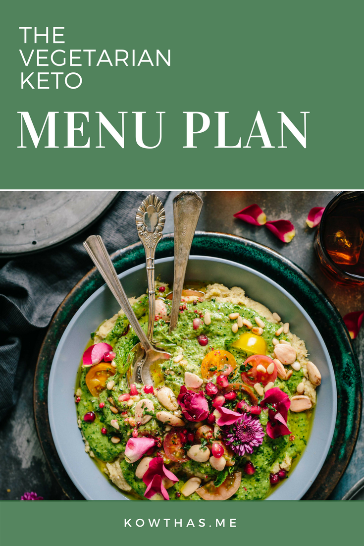 The keto menu plan for vegetarians - Keto Vegetarian Menu plan to keep things simple, with no egg alternative.