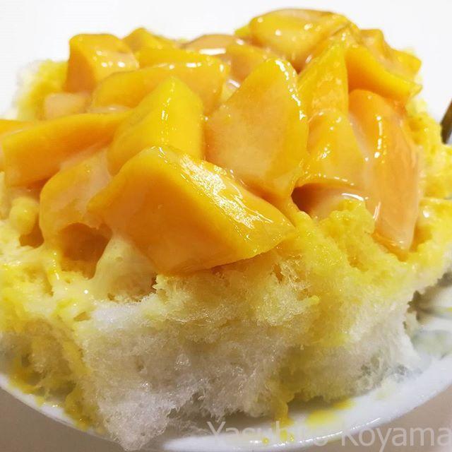 無事にマンゴーかき氷が食べられたー。